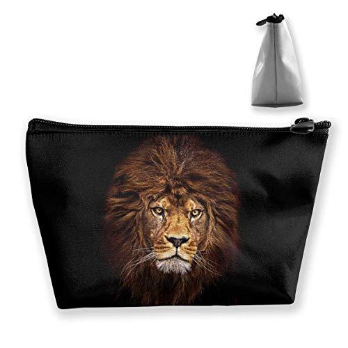 Bolsa cosmética portátil Lion Multi-Funcional Print Trapezoidal Storage Bag para Mujer