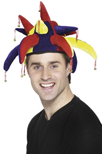 Smiffys Sombrero de bufón, con campanillas