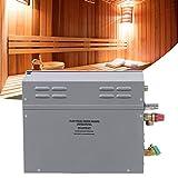 Generador de Vapor, 6KW Auto-drenaje Auto-suministro Duchas de Vapor de Agua TM60 Control Táctil Temperatura Tiempo Panel Visualización Generador Sauna Eléctrica para el Hogar SPA Baño Hotel Ducha(UE)