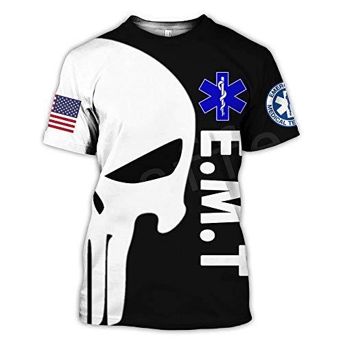 Servicio médico de Emergencia Técnico Paramédico Héroe Moda Unisex Casual 3D Imprimir Camisetas de Manga Corta
