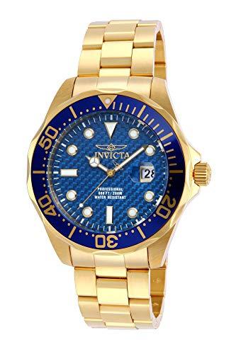 Invicta Men's Pro Diver 47mm Gold Tone Stainless Steel Quartz Watch, Gold (Model: 14357)