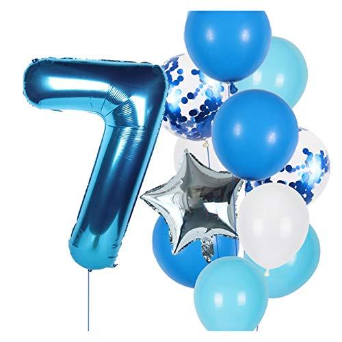 JSJJAES Globos 12 unids Número Globos Set Baby Boy Girl Cumpleaños Decoraciones Decoraciones Niños 40 Pulgadas Número Globo Bebé Ducha Foil Número Baloon (Color : Plum)
