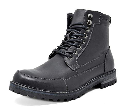 Bruno Marc Men's Engle-01 Black Motorcycle Combat Oxford Boots Size 9 M US
