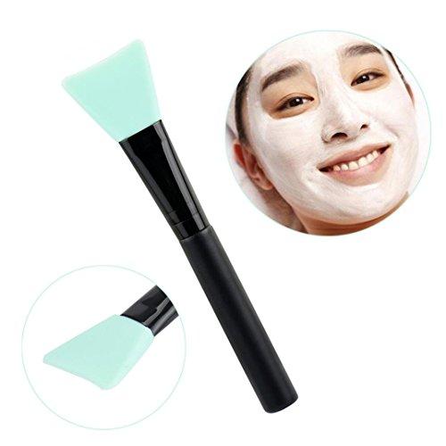 Toamen professionnelle Mask PoignéE Brosse En Bois Visage Facial Masque De Boue MéLange De Brosse CosméTiques De Maquillage (Menthe verte)