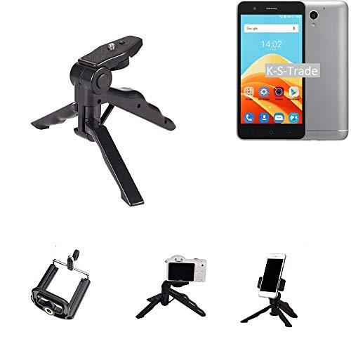 K-S-Trade Trípode para Teléfono Móvil ZTE Blade A510 Trípode Mini De Cámara Compacta Trípode De Teléfono Móvil Plástico Negro (1x)