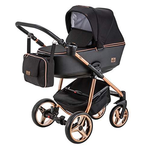 BeBe-Mobile Kinderwagen Kombikinderwagen 2in1 Kinderwagenset Babywanne Buggy Gusto Special GS302 schwarz