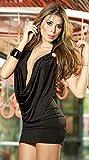 Body Mujer Erótica Ropa Interior,Use Cuello, músculos sexuales, Delgado, Bolsa Abierta, Cadera, Pijama para el hogar, Negro, Talla única,Una Pieza Lencería Transparente