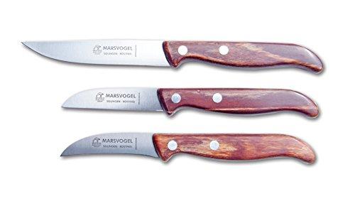 Marsvogel Küchenmesser 3er Set - Holz
