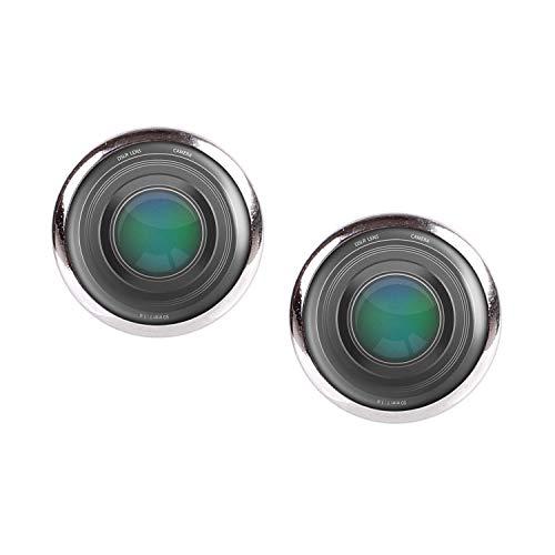 Mylery Ohrstecker Paar mit Motiv Objektiv Digital-Kamera DSLR Linse silber 12mm