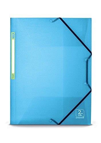Elba 64900 2Nd Life 5/10E Chemise Polypropylène Recycle A4 Dos 30 mm 3 Rabats/Elastiques Translucide