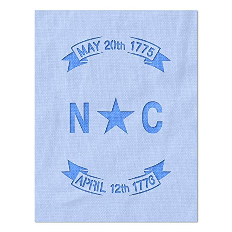 Stencil Stop North Carolina State Flag Stencil - 14 Mil Mylar Plastic (8.78 x 12 inches)
