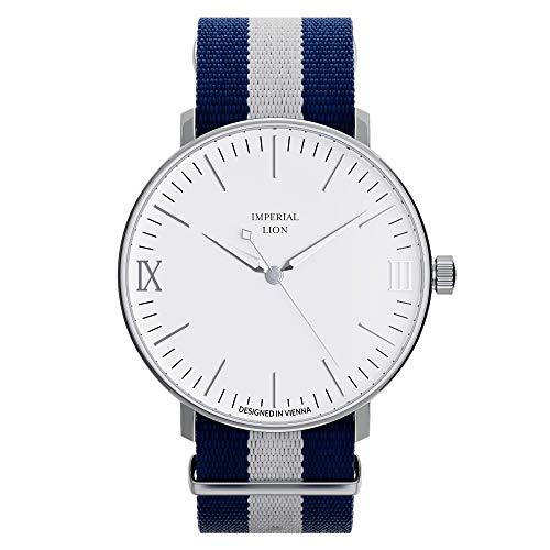 Imperial Lion Herren Uhr - analog - Schweizer Quarzwerk - mit Nylon Armband - Segler
