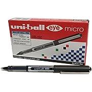 Uni-ball UB-150 Eye Micro Tintenroller, fein, Schwarz, 12Stück