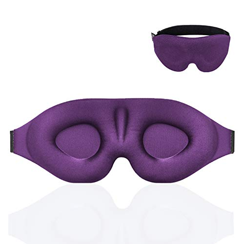 YIVIEW Sleep Mask for Women Men, Eye Mask for Sleeping 3D Contoured Cup Blindfold, Upgraded Eye Cover with Adjustable Strap, Blockout Light, Eye Pillow Soft Comfy Eye Shade for Nap Travel Night Shift