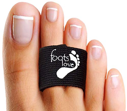 Foots Love - Broken Toe Splints. Crooked Toe Separator Hammer Toe Straightener Wraps. The Only Copper Align, Protect & Heal Brace. Even Better Now With No Slip !