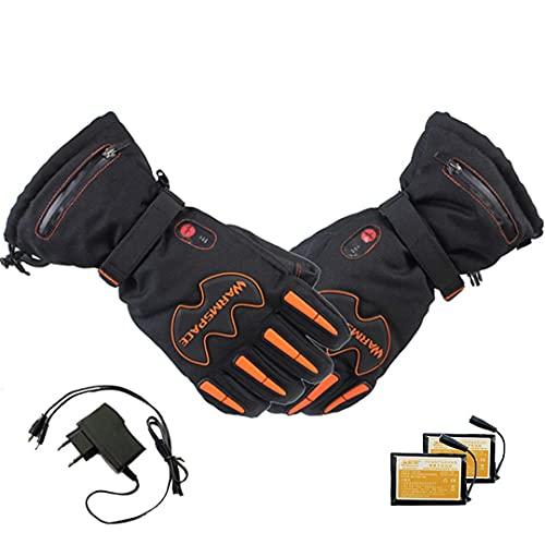 QMJHHW Rensoongs Smart Electric Heat Waterproof Lithium Battery Winter Skiing Gloves 5 Fingers&Hand Back Heated