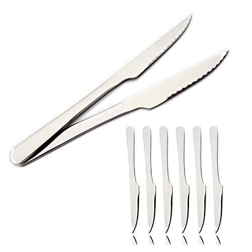 Besch 6 Cuchillos de Carne Acero Inoxidable 21 x 2 cm