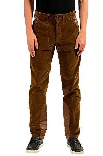 "Moncler ""Grenoble Men's Brown Corduroy Casual Pants US 32 IT 48"