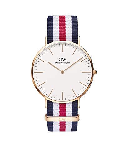 Daniel Wellington Uhren Canterbury Herren Uhrzeit Blau/Rot/Weiß - 0102dw