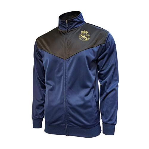 Icon Sports Men Real Madrid Officially Licensed Zipper Soccer Jacket Large 024