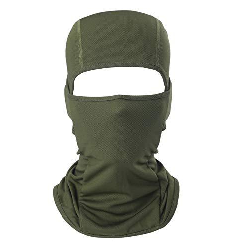 AYPOW Balaclava Gesichtsmaske, weiche atmungsaktive Mehrzweck Winddicht Motorrad Radfahren Balaclava Taktische Kapuze elastische Ski Maske Balaclava Hut Headwear Helm Liner(Armeegrün)