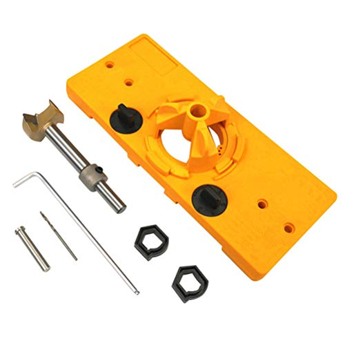 35mm Hole Locator Woodworking Hinge Hole Opener,Hinge Drilling Jig Hole Guide,Boring Position Locator Tool Kit for Cabinet Door Installation