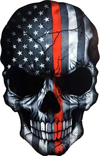 OTA Aufkleber Totenkopf Skelett Teufel Ghost Monster Zombie American Flag Subdued Thin Red Line USA Military Soldier Ranger Firefighters Rock Metal Heavy Decal Laptop Auto Fenster Tür Motorrad Helm
