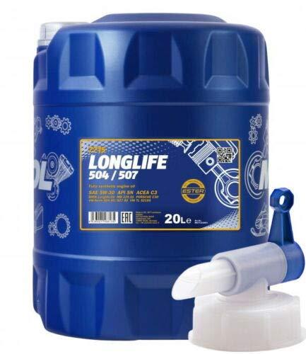 20 Liter, MANNOL 7715 LONGLIFE 5W-30 Motoröl Freigabe 504/507