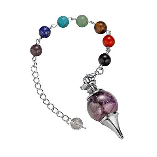 アメジスト 水晶 天然石 美しい宝石 18 mmボール ペンダント おしゃれ ネックレス メンズ レディース