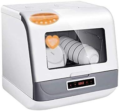 DSFEOIGY Inteligente lavavajillas automático, 6 Juegos de Pequeño El Secado al Aire Integrado Lavavajillas de Servicios de Escritorio
