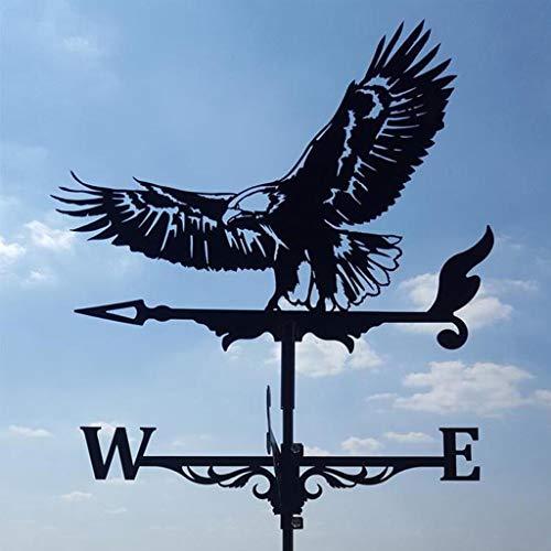 YIWOYI Weather Vane Outdoor,Witch Metal Weather Vane, Weathervane Roof Mount Weather Vane Outdoor Garden Farm Barn Scene (Eagle)
