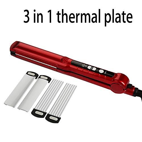 Spalk steil haar krullen, dual-huishoudelijk gebruik corn baard verwarming, haargelijkrichters 3 en 1, gebruikt om controle haarkleur red