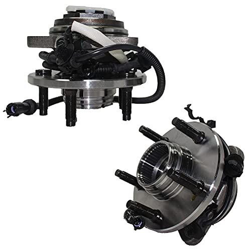 Detroit Axle - 4WD Front Wheel Hub and Bearing Assembly Replacement for...