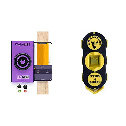 Walabot DIY Plus - Advanced Wall Scanner, Stud Finder - for Android Smartphones - NOT Compatible for iPhone and iPads and Tablets -DY2PBCGL01 & CH Hanson 03040 Magnetic Stud Finder