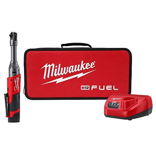 Milwaukee 2559-21 12V Li-Ion Brushless Cordless 1/4u0022 Extended Reach Ratchet Kit