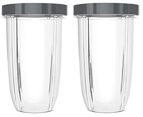 Preferred Parts 32oz Replacement Cups with Screw-Off Lip Ring for NutriBullet High-Speed Blender/Mixer, Huge NutriBullet Cups - Pack of 2
