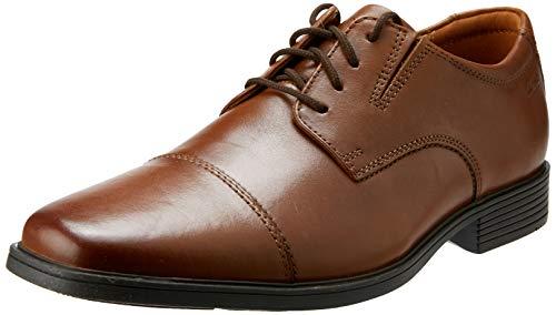 Clarks Tilden Cap, Zapatos de Cordones Derby Hombre, Marrón (Dark TanLea), 43 EU