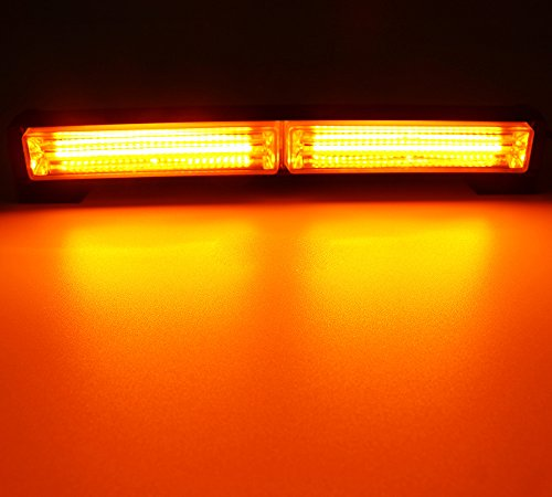 Auto Blitzer, HEHEMM Frontflitzer 36W COB Bernstein 12-24V Warnleuchte Blinkleuchte Warnlicht Alarm Licht (Bernstein)