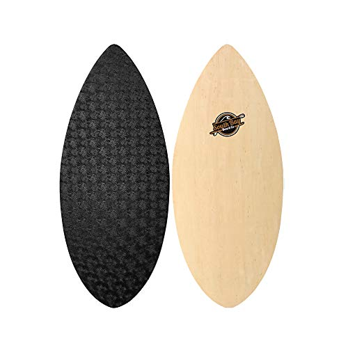 South Bay Board Co. Performance Wooden Skim Board-41 Skimboard (The Skipper) with Textured Wax-Free Foam Top Deck for Kids, Teenagers, and Lightweight Adults from