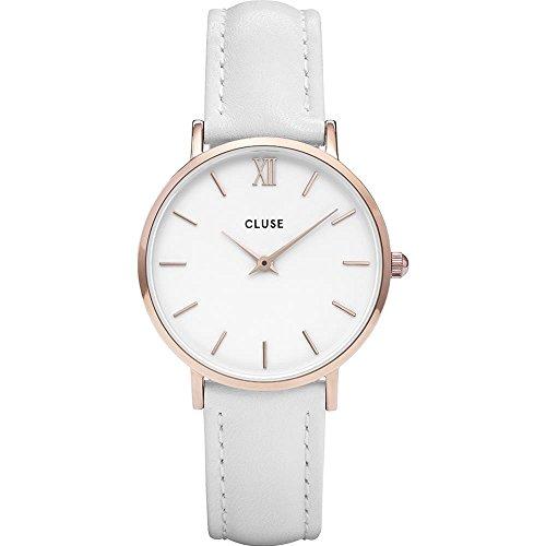 Cluse Damen Analog Quarz Uhr mit Leder Armband CL30056