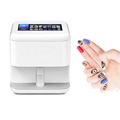 ZXCASD Portátil 3D Digital Uña Impresora, Digital De Uñas Máquina con Diseño De Arte Móvil Impresora con Función WiFi para Uso Comercial, Auto Uso