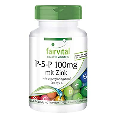 P-5-P 100mg with zinc – active vitamin B6 – 90 vegan capsules - Pure substance from fairvital