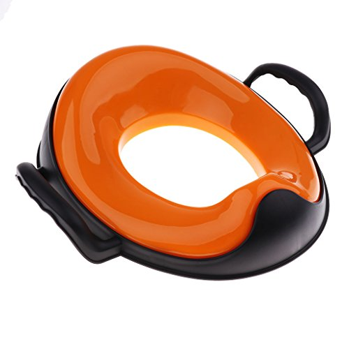 Fenteer Enfant Siège Réducteur/Toilette Pour Accs WC - Démontable Durable - Orange