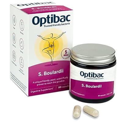 Optibac Saccharomyces Boulardii | Scientifically Proven Digestive Supplement | 5 Billion | 80 Capsules