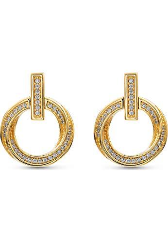 JETTE Silver Damen-Ohrstecker 925er Silber 54 Zirkonia One Size Gold 32010620