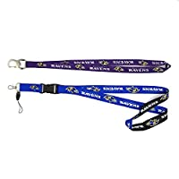 Fit Baltimore Ravens Lanyard with detachable buckle and Ombre Lanyard with Bottle Opener (Fit Ravens)