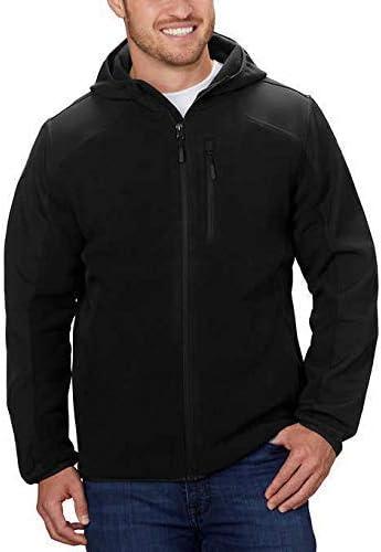 Reebok Men's Hybrid Softshell Jacket (Black, Medium)