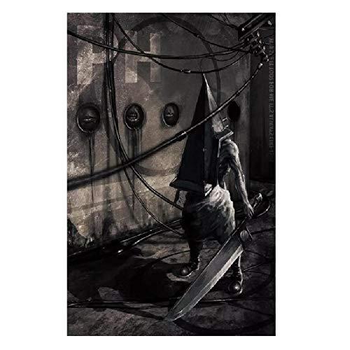 wzgsffs Silent Hill Pyramid Head Game Póster Artístico De Pared E Impresiones Impresas En Lienzo para Sala De Estar Dormitorio En Casa Cafe-24X32 Pulgadas X 1 Sin Marco