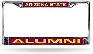 NCAA Arizona State Sun Devils Alumni Laser Cut Inlaid Standard Chrome License Plate Frame, Chrome