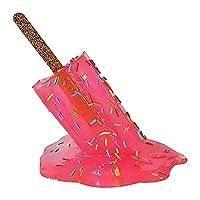 透明な溶ける彫刻の装飾ミニチュア樹脂、アイスクリームの彫刻、溶けるアイスクリームの樹脂の彫刻、夏の涼しいアイスキャンディーの溶ける樹脂の装飾品、創造的な溶けるアイスクリーム (A)